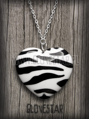 wisiorek zebra serce