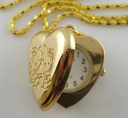 Wisiorek z zegarkiem