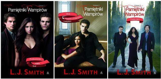 Książki ,,Pamietniki wampirów...''