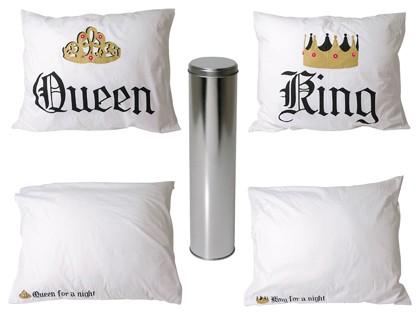 Poszewki na poduszki Król i Królowa