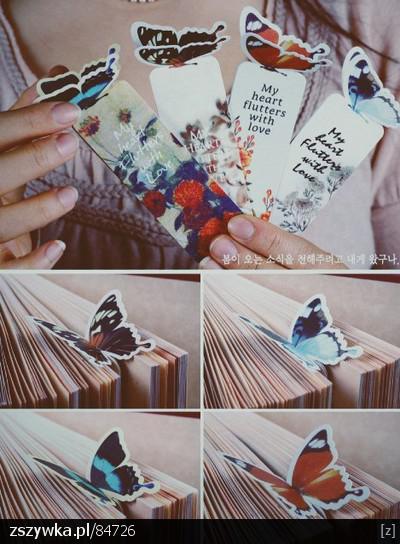Zakładki do książki - Papierowe Motyle