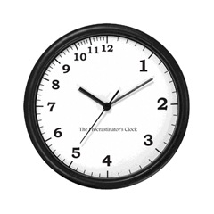 Procrastinators Clock