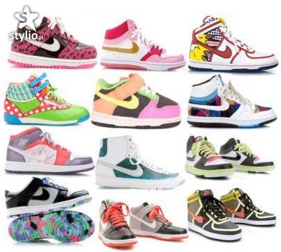 kolorowe buty sportowe za kostkę