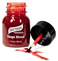 Graftobian Pro 1oz Stage Blood with Brush