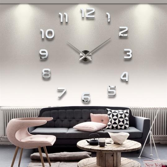 Duży nowoczesny zegar ścienny DIY
