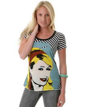 Bluzka z Paris w stylu pop art