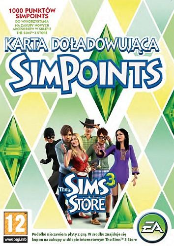Karta Doładowująca SimPoints do The Sims 3