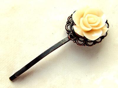 Spinka do włosów kwiat róża victorian vintage goth