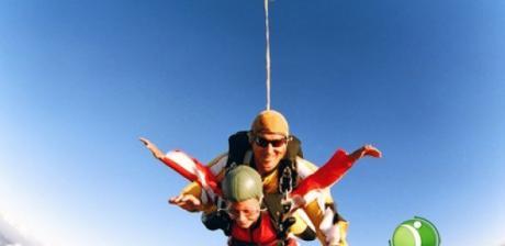 Skok za spadochronem