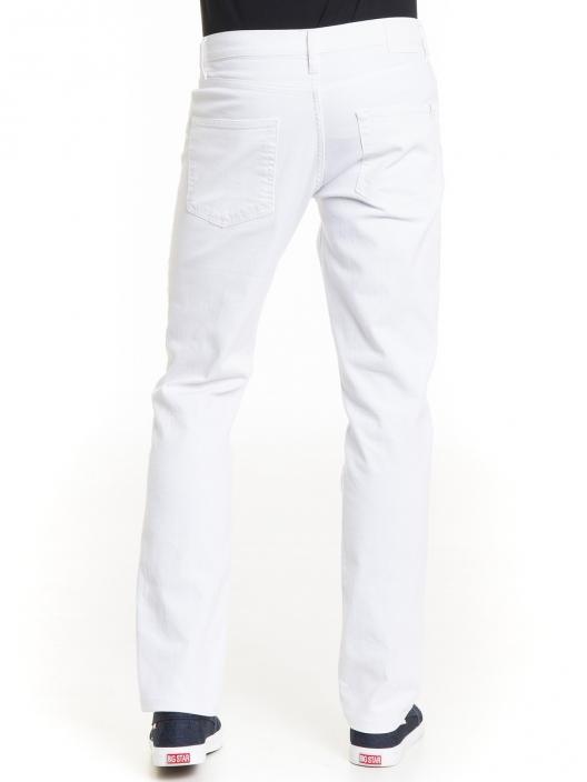 Białe jeansy męskie