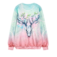 Harajuku fashion skeleton long-sleeved sweatshirt