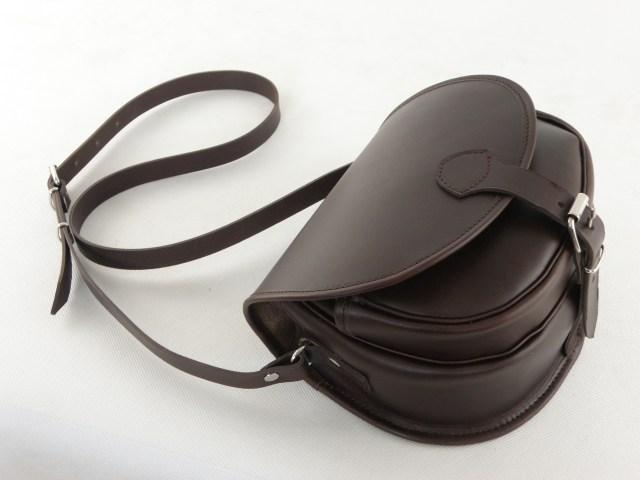 Teczka na ramię myśliwka / listonoszka 0078 czekolada vintage