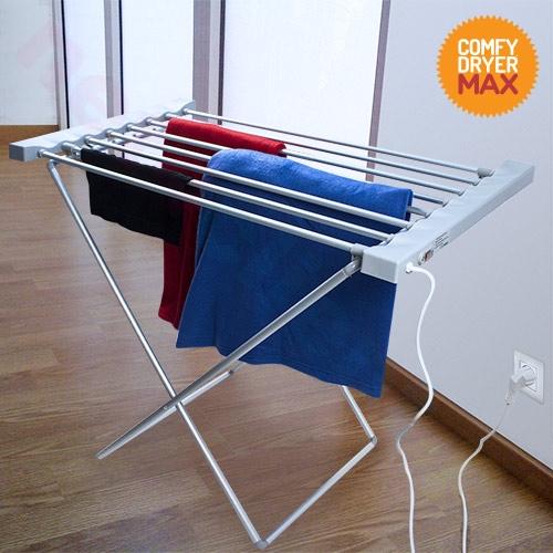 Rozkładana, przenośna elektryczna suszarka na pranie