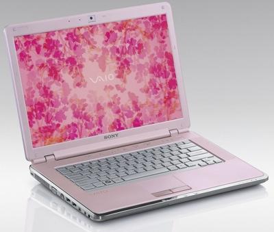 Laptop Sony Vaio różowy
