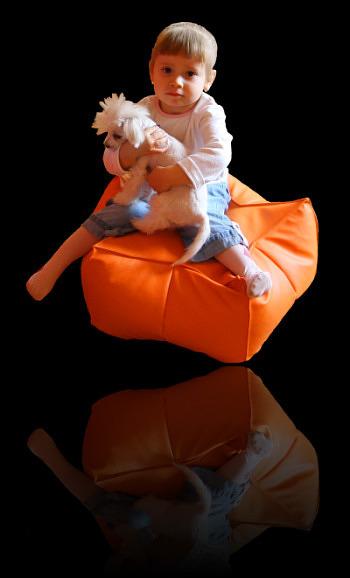 pufa relaksacyjna w kształcie gwiazdy - wygodna poducha do siedzenia