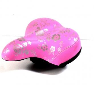 Różowe siodełko rowerowe