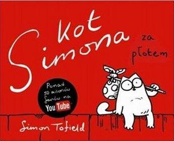 Kot Simona. Za płotem.