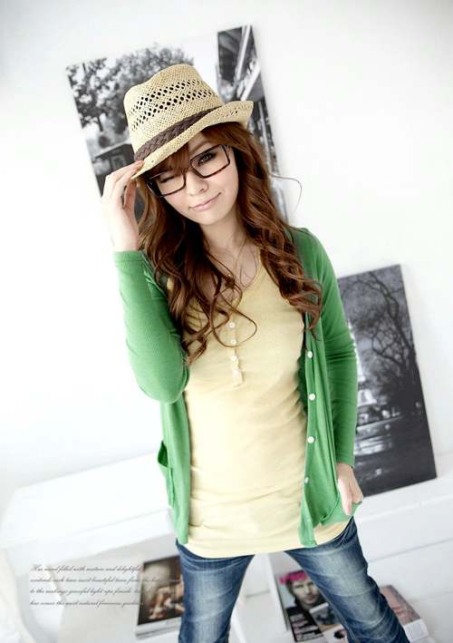 Zielony sweterek Japan Style