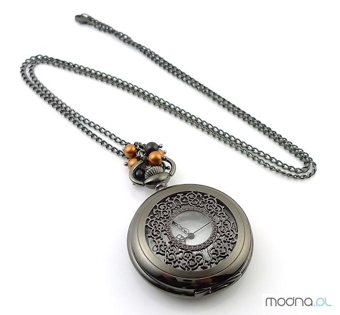 Zegarek Black Vintage Swarovski Pearls