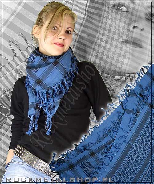 niebiesko-czarna arafatka