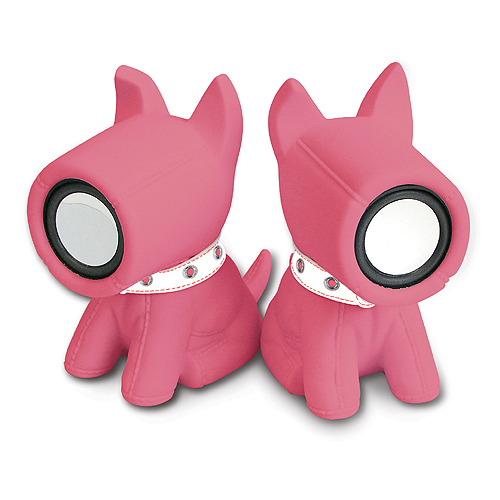 Głośniki pieski różowe