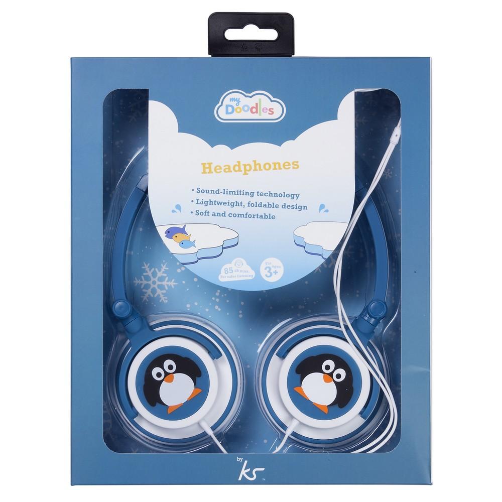 Słuchawki nagłowne z limiterem 85 dB - pingwin