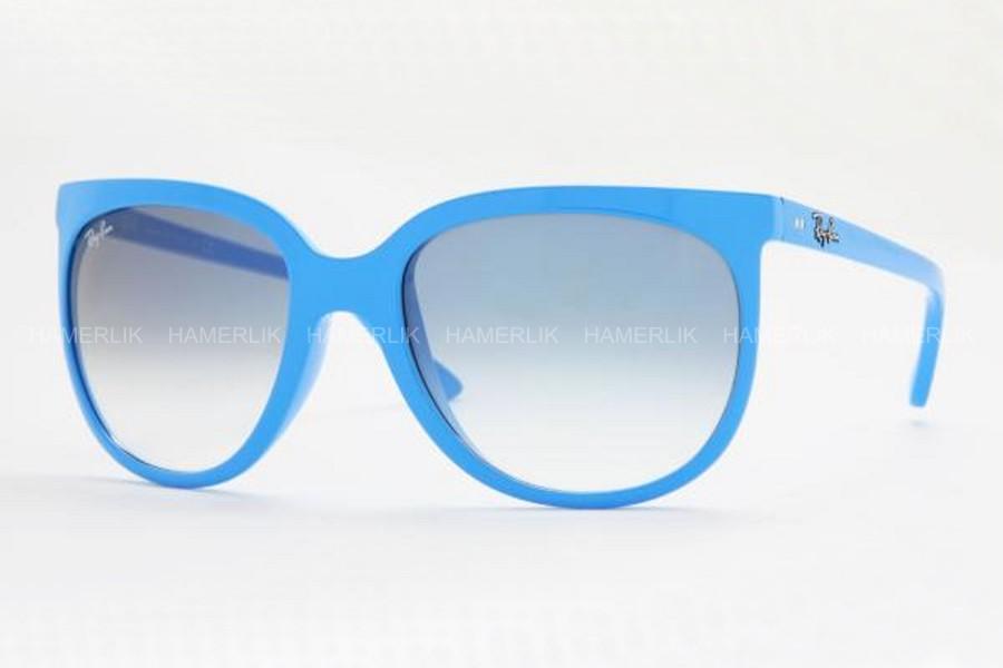 Okulary Ray Ban Niebieskie Cats !