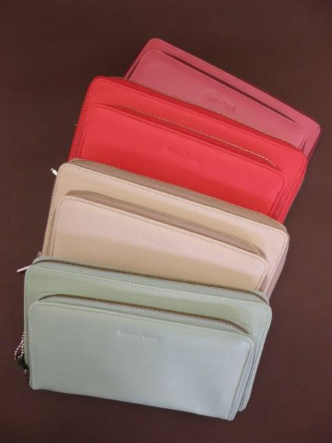 Kolorowe torebko - saszetki do ręki, kopertówki natutalna skóra!