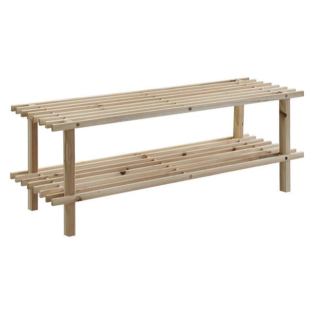 stojak na buty drewniany