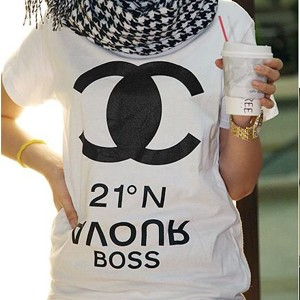 Koszulka Chanel fake