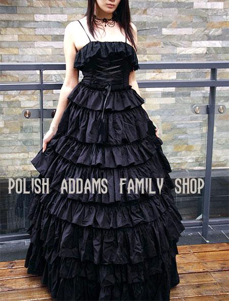 Gotycka, czarna suknia