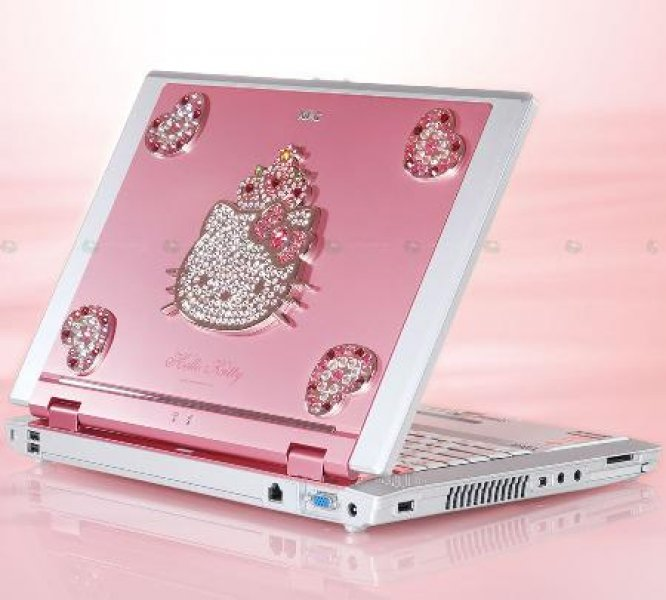 Laptop z Hello Kitty