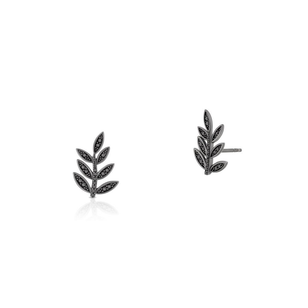 Kolczyki srebrne oksydowane