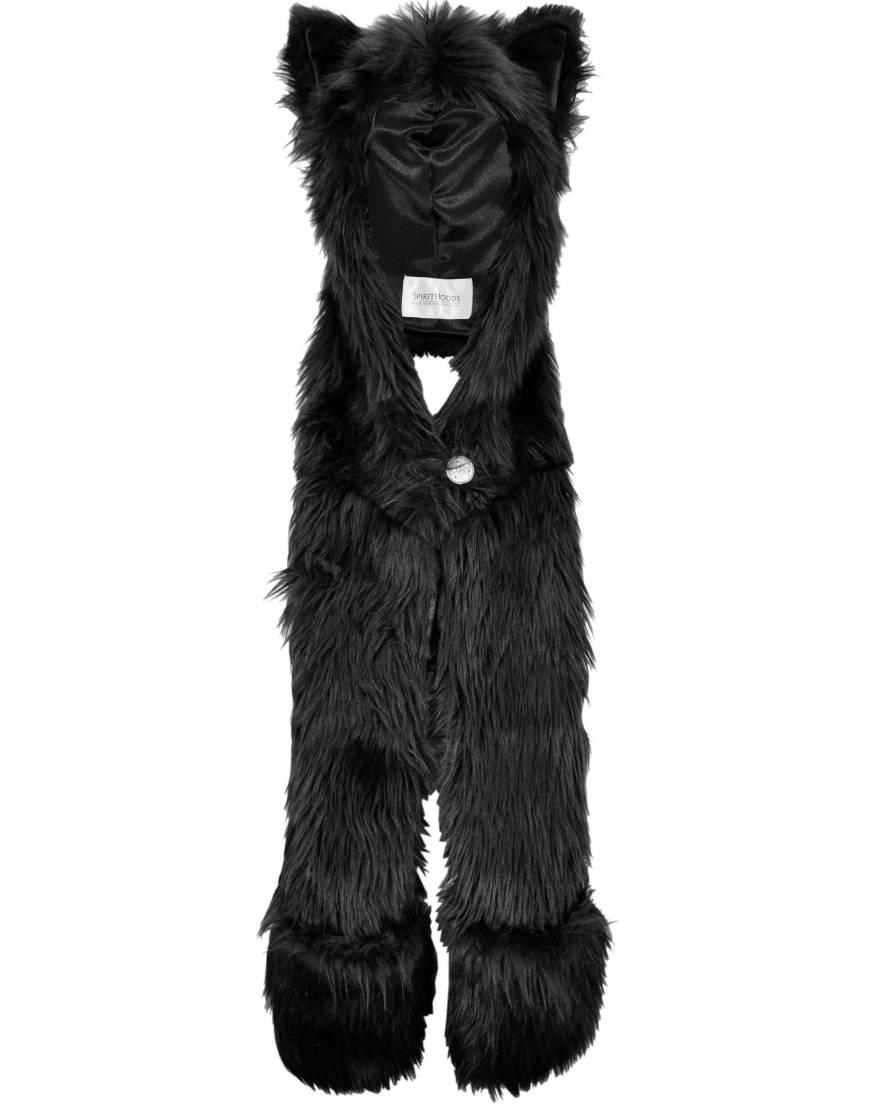 SpiritHood Black Wolf