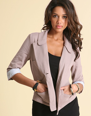 Vila Turn Up Cuff Jersey Blazer