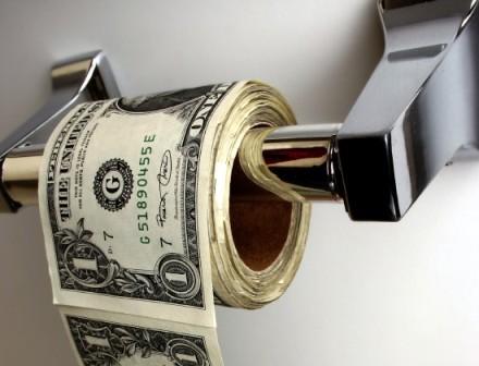 papier toaletowy z pieniędzy. ;]