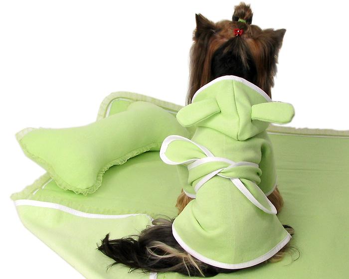 Zielony komplet kąpielowy dla psa