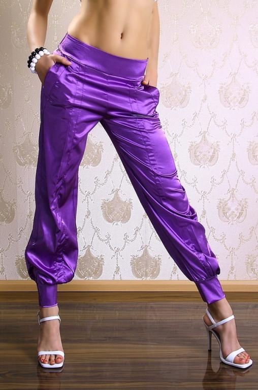 Śliczne satynowe spodnie