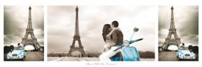 Paryż (tryptyk) - plakat 91,5x30,5cm