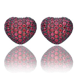 Rubinowe kolczyki serca