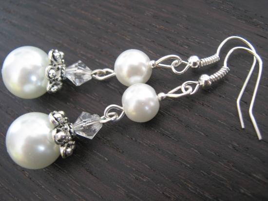 perłowe kolczyki