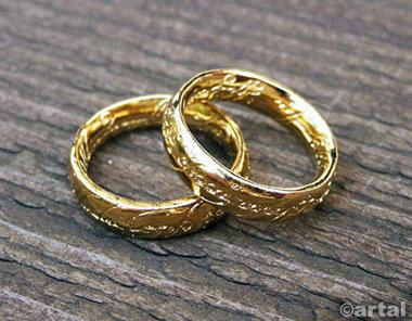 pozłacany pierścień Władca Pierścieni