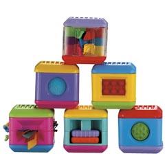 Fisher Price Peek-a-Blocks™ Doznania dotykowe lub wzrokowe