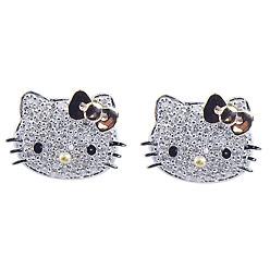 diamentowe kolczyki hello kitty