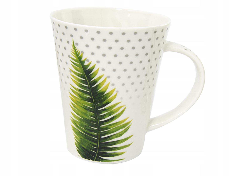 Kubek PORCELANA 360ml na kawę herbatę Tropikalny