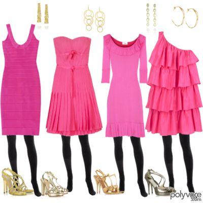 4 rużowe sukienki