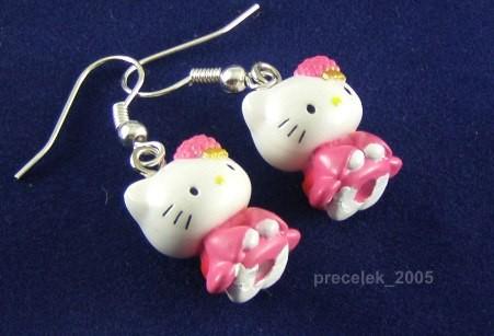 kolczyki hello kitty-różowe sukieneczki