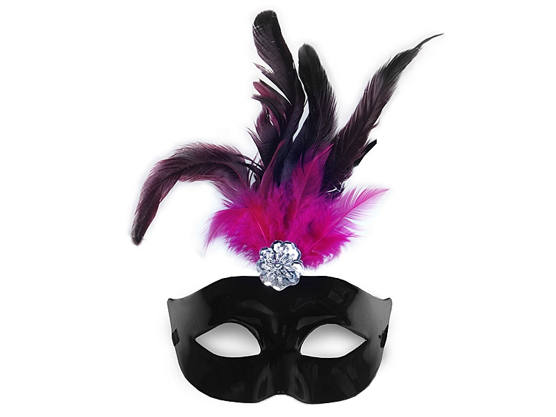 Maska wenecka z piórkami