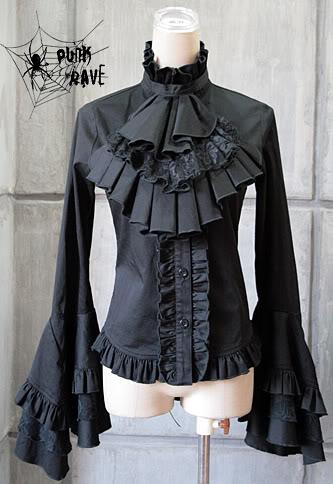 ***Cudowna bluzka z żabotem GOTHIC *NOWOŚĆ *XL* (929961236) - Aukcje internetowe Allegro