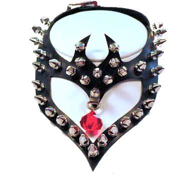 Large Studded Heart Choker